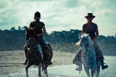 Galloping on untouched wild beaches!