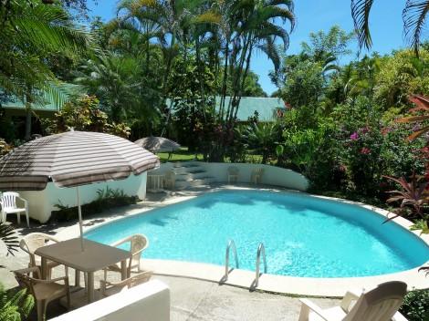 Magellan Inn pool set in ancient coral reef & jungle