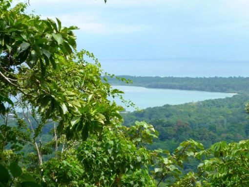 mountain sea view of Cahuita, Costa Rica