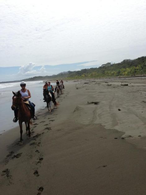 beach trail ride out to Rio Estrella