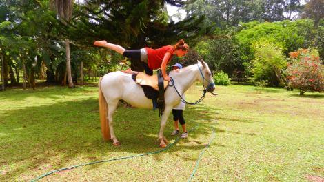 yoga on horseback Costa Rica