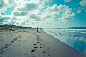 Riding along Playa grande beach, wild & untouched