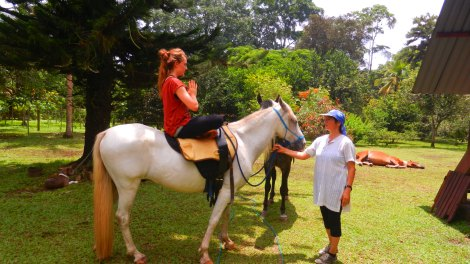 yoga with horses in Costa Rica