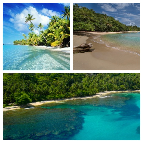 The Beautiful beaches of the Caribbean of Costa Rica