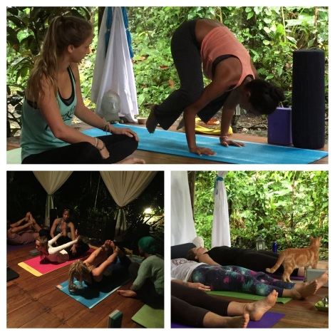 Student Yoga practice at YTT in Costa Rica
