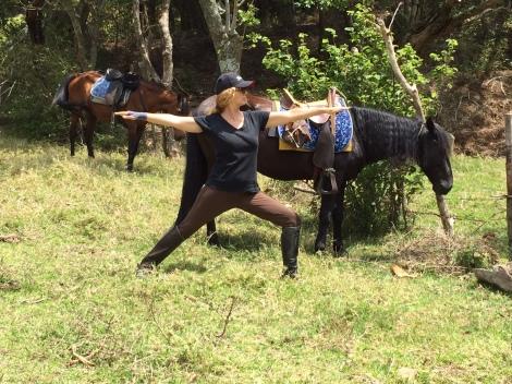 Warrior Horse Pose